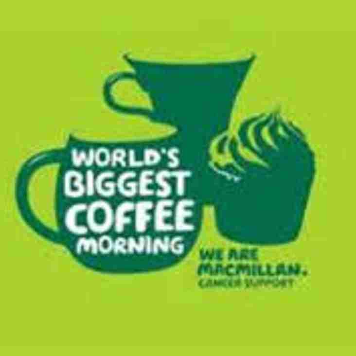 Macmillan Coffee morning at the Linden Club on the 30th September