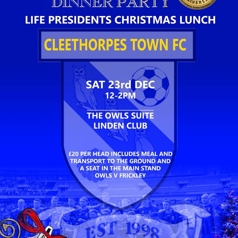 Join us for the Life Presidents Dinner on the 23rd