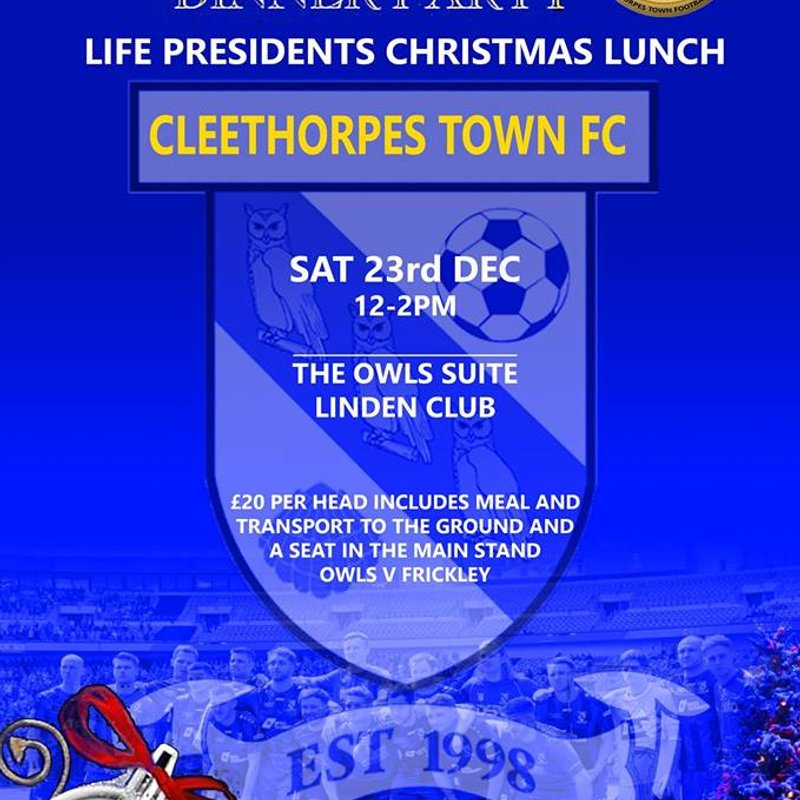 Book your Place at the Life Presidents Dinner
