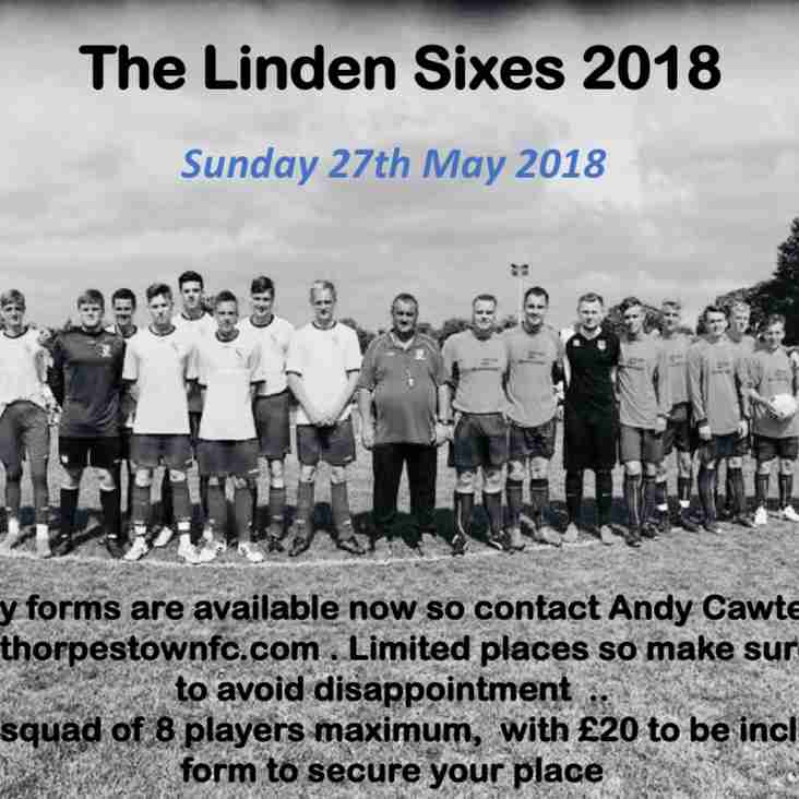 Linden Sixes - Entries now open