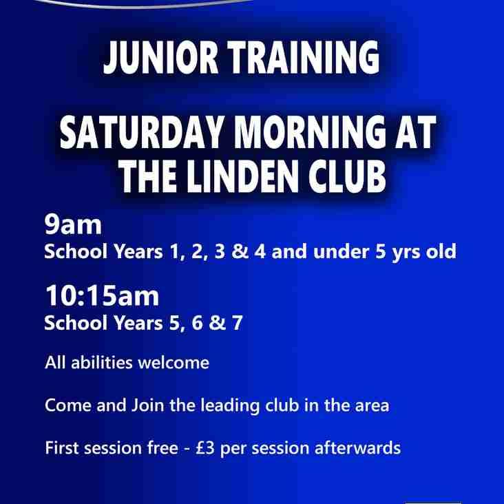 Saturday Training everyone welcome