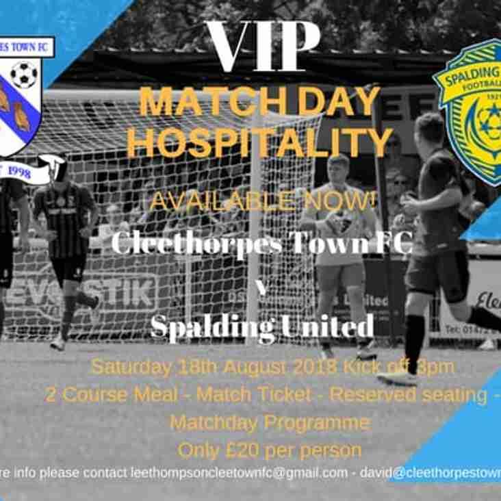 Match Day Hospitality against Spalding United