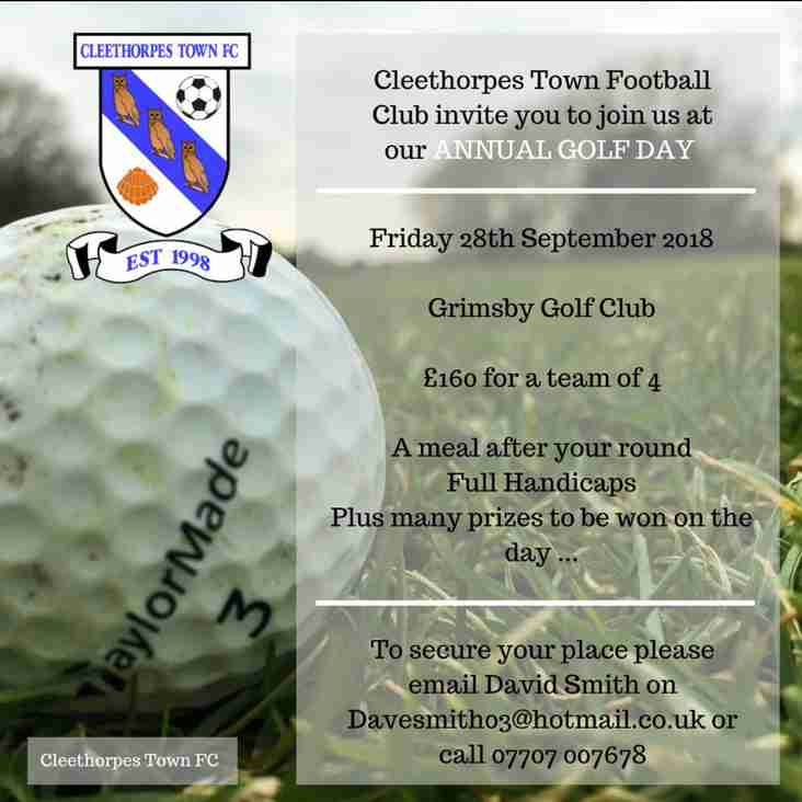 Cleethorpes Town Annual Golf Day - 28th September