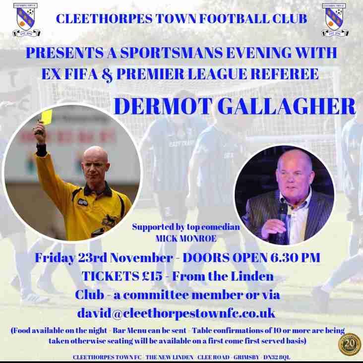 Sportsman Event with Dermot Gallagher - Tickets Now On Sale