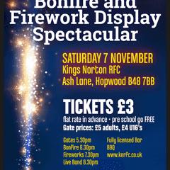 Bonfire and Fireworks Spectacular - 7th November 2015
