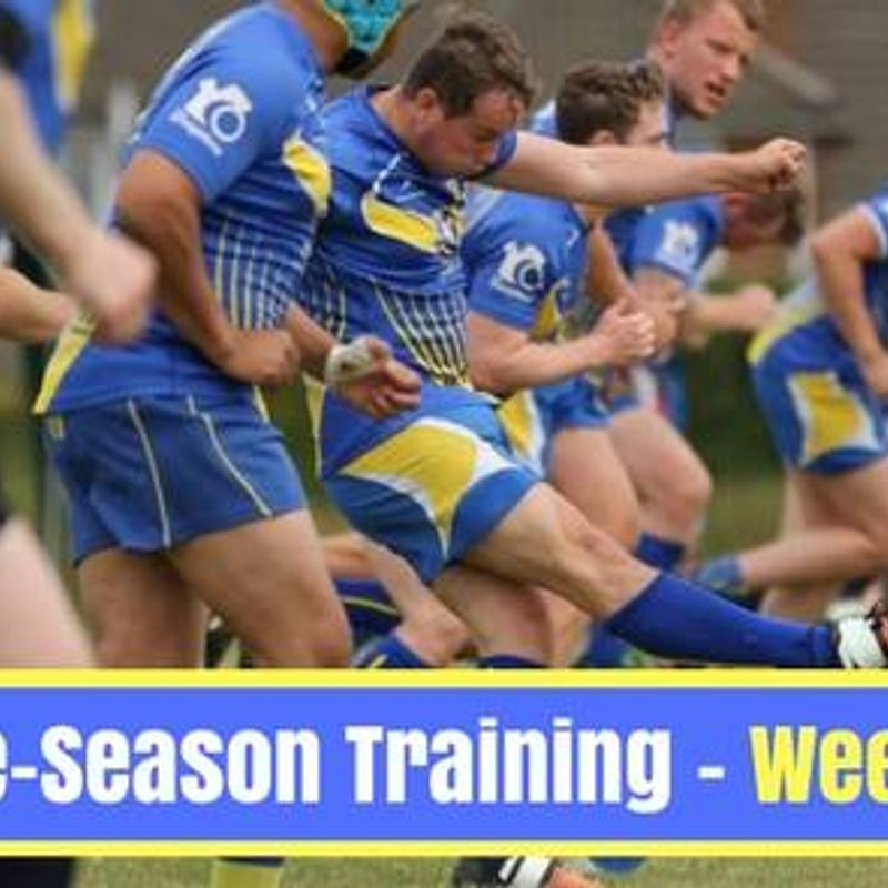 Senior Team training starts March 7th.