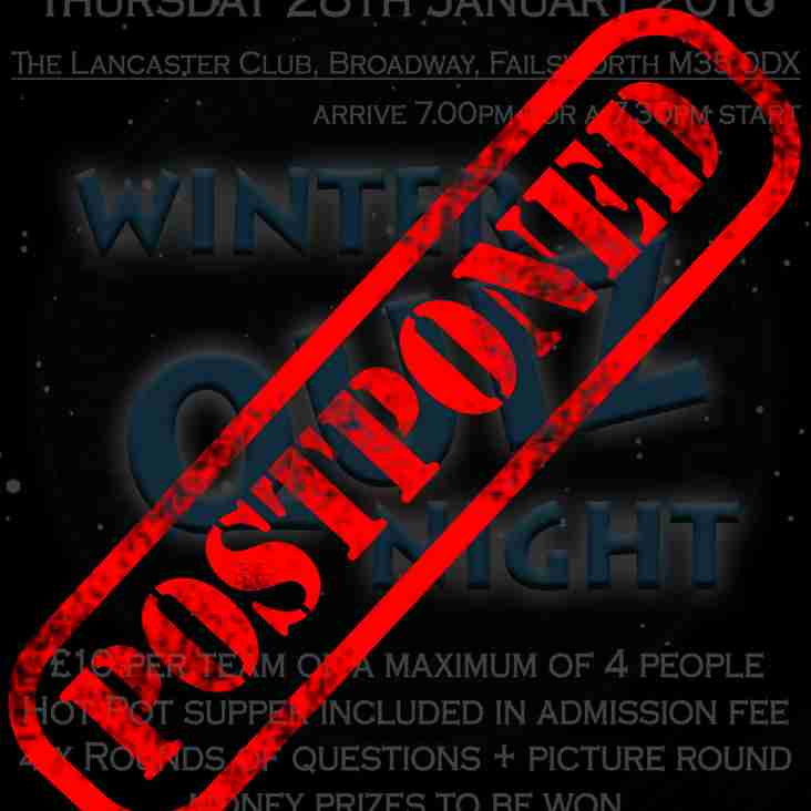 Winter Quiz Night - Postponed