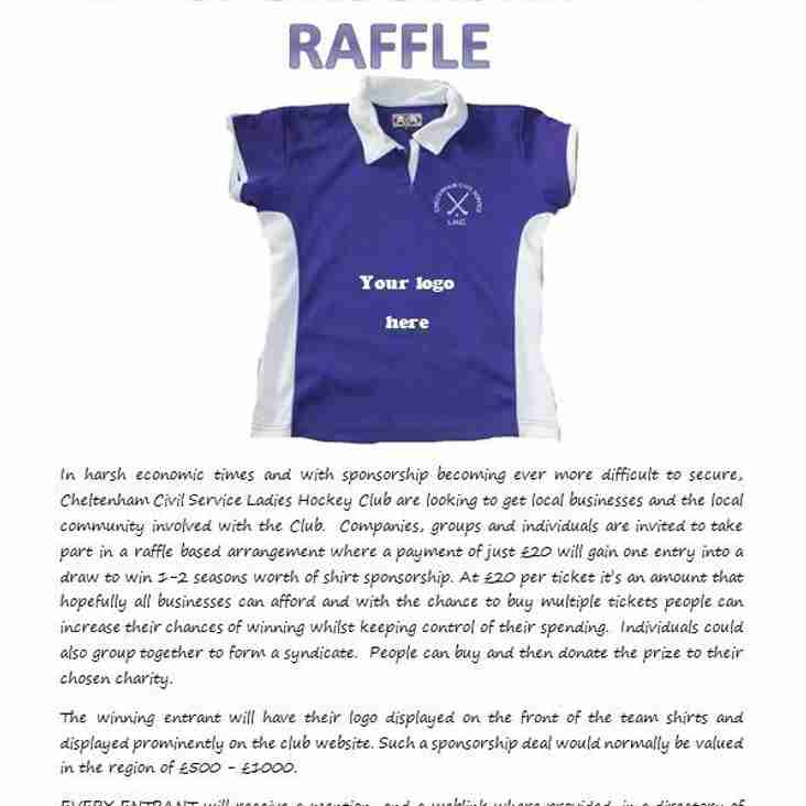 Shirt Sponsorship Raffle!