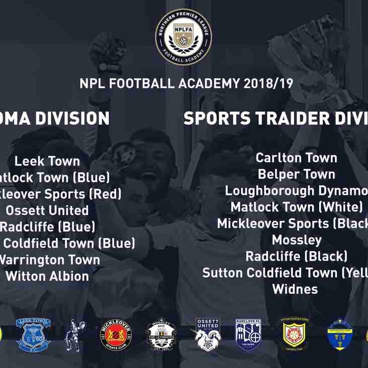 Academy placed in NPLFA Sports Traider Division