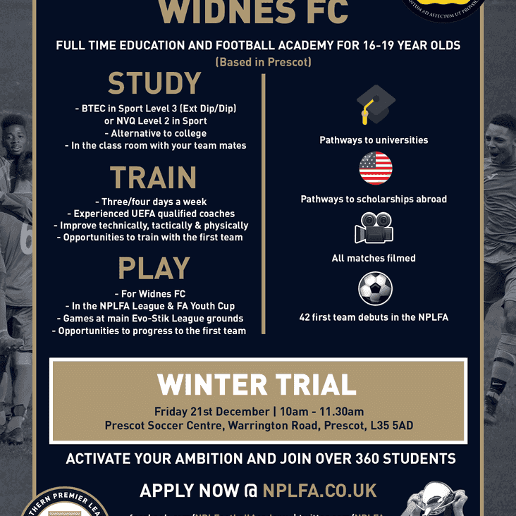 Widnes Academy Winter Trials