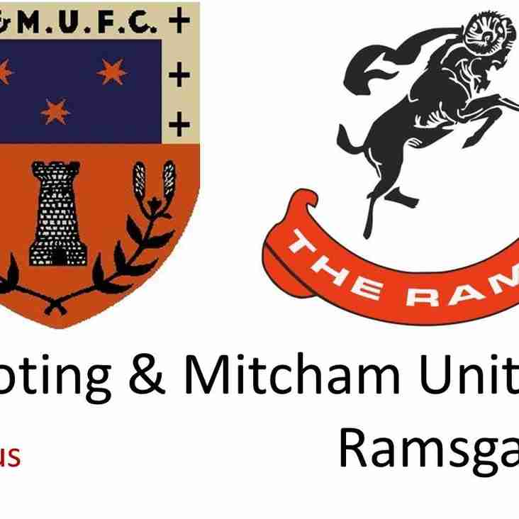 PREVIEW: Tooting & Mitcham v RAMSGATE