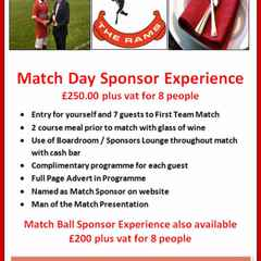 Match Day Sponsor Experience