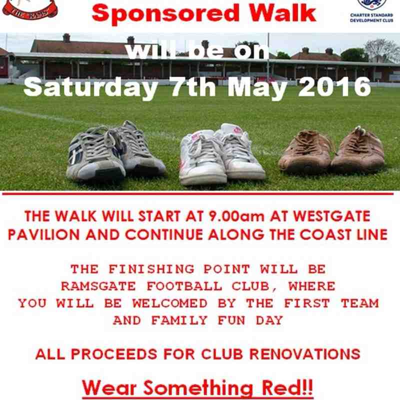 Sponsored Walk on May 7th