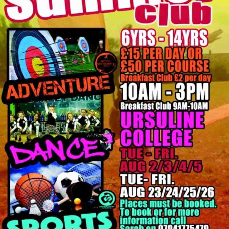 Summer Club - Adventure / Dance / Sports - 6yrs - 14yrs