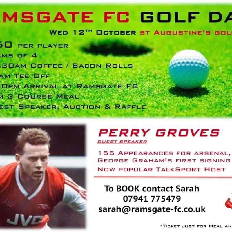 Golf Day St Augustine's Golf Club + Evening with Perry Groves_WED 12TH OCTOBER
