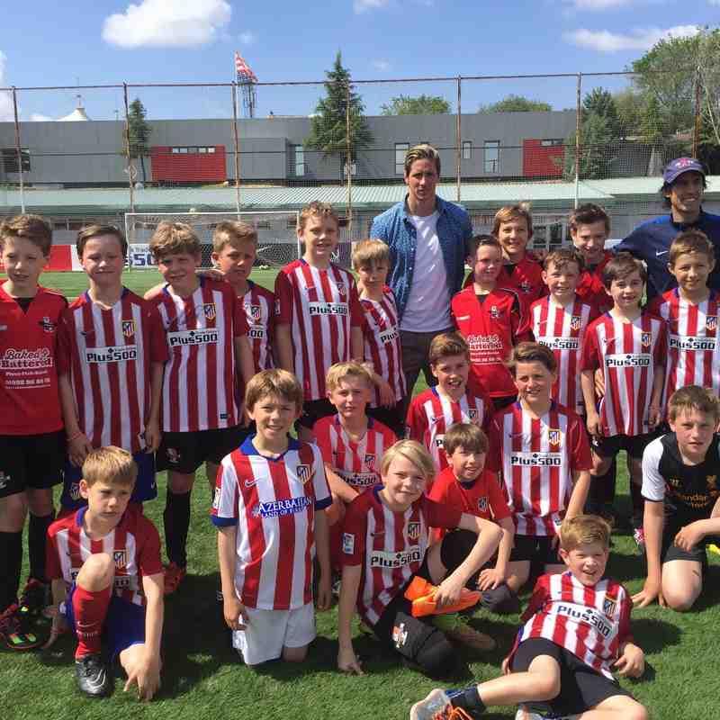 Cobham FC visit Athletico Madrid