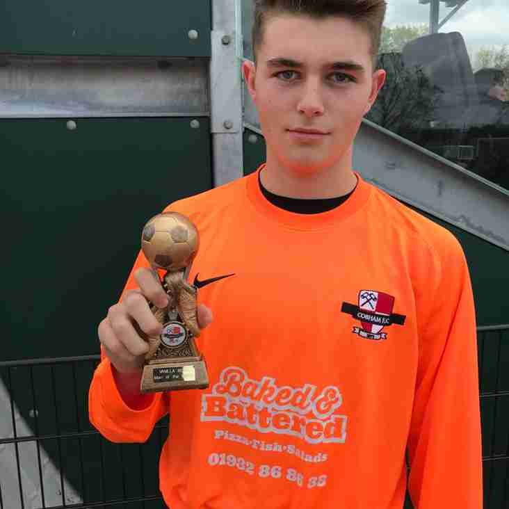 U16 Goal Keeper - Dan Clifton