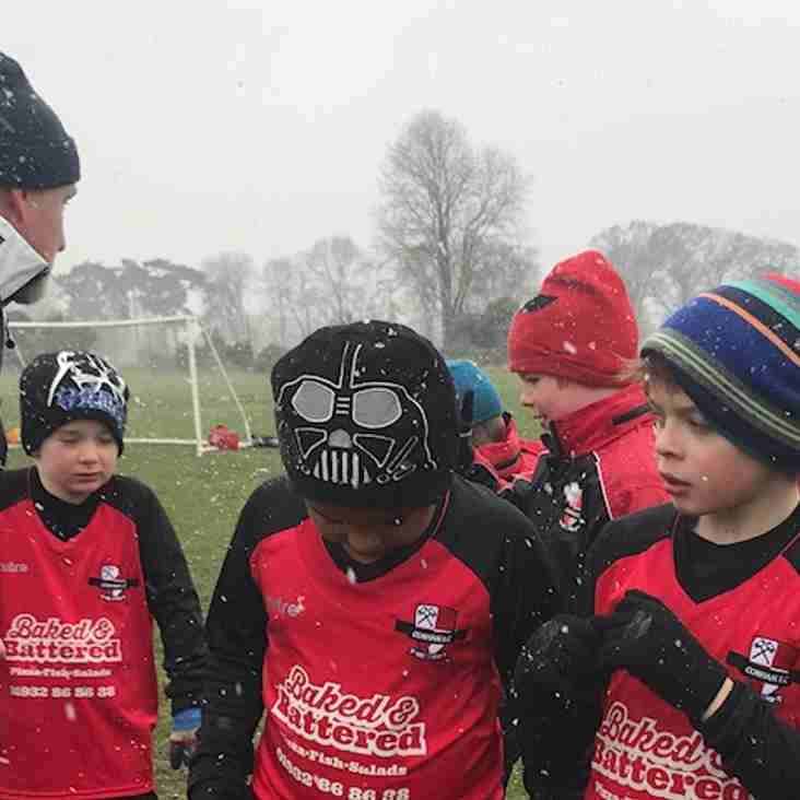 CFC Juniors brave the weather