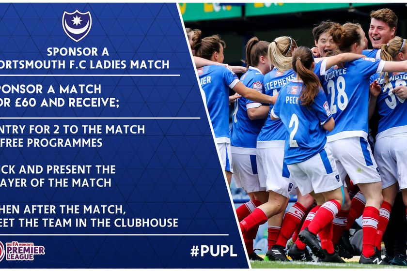 Match sponsorship available at Pompey