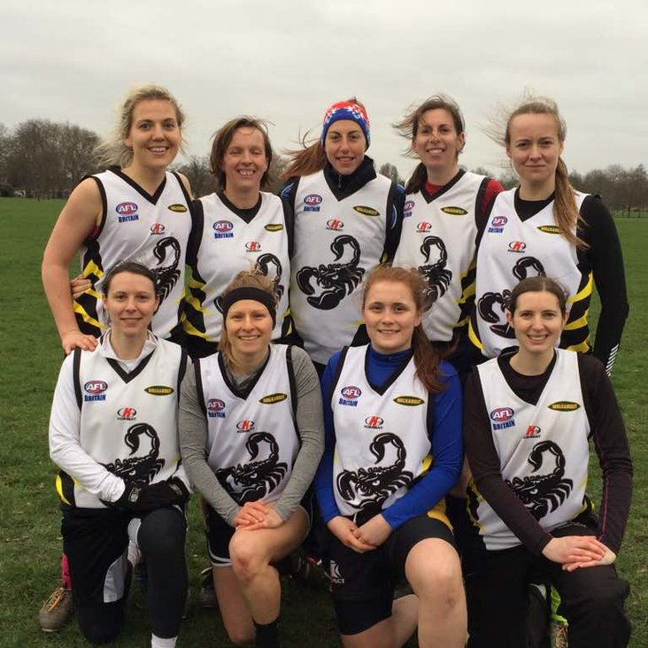 Scorpions Women at the GB Swans Trial<
