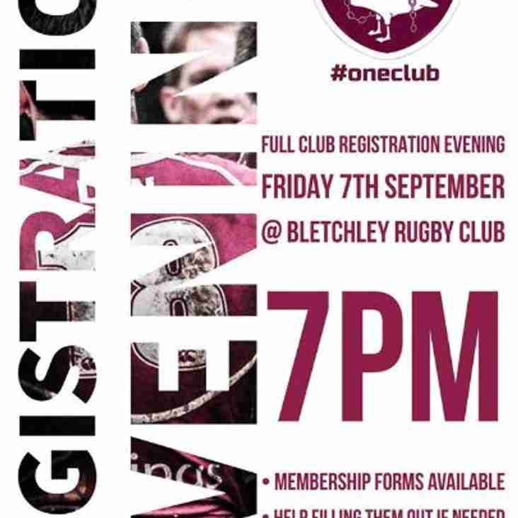 Bletchley Rugby Club Registration