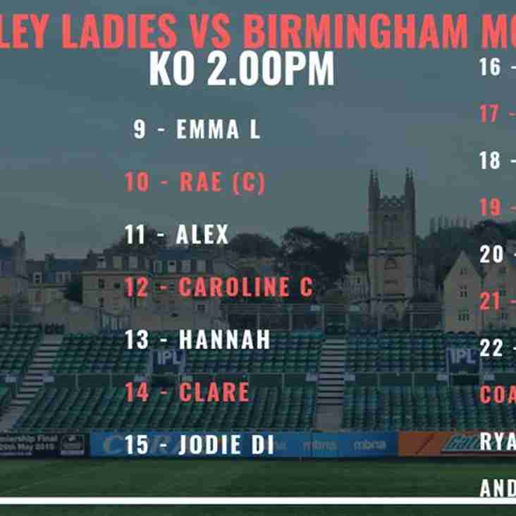 Bletchley Ladies Host Birmingham Moseley Ladies