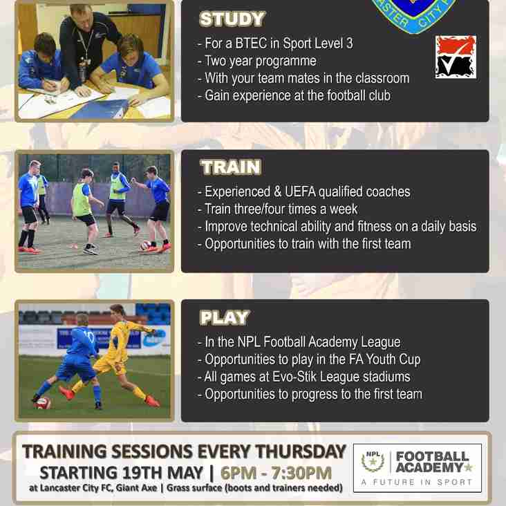 JOIN THE LANCASTER CITY ACADEMY FOR 2016/17