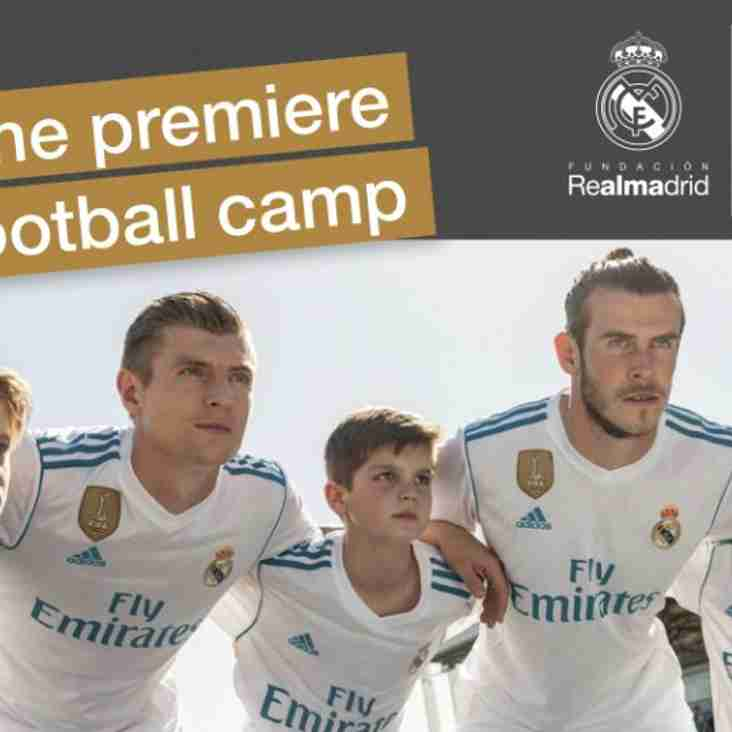 Don't forget to book your place on the Real Madrid Football Camp!