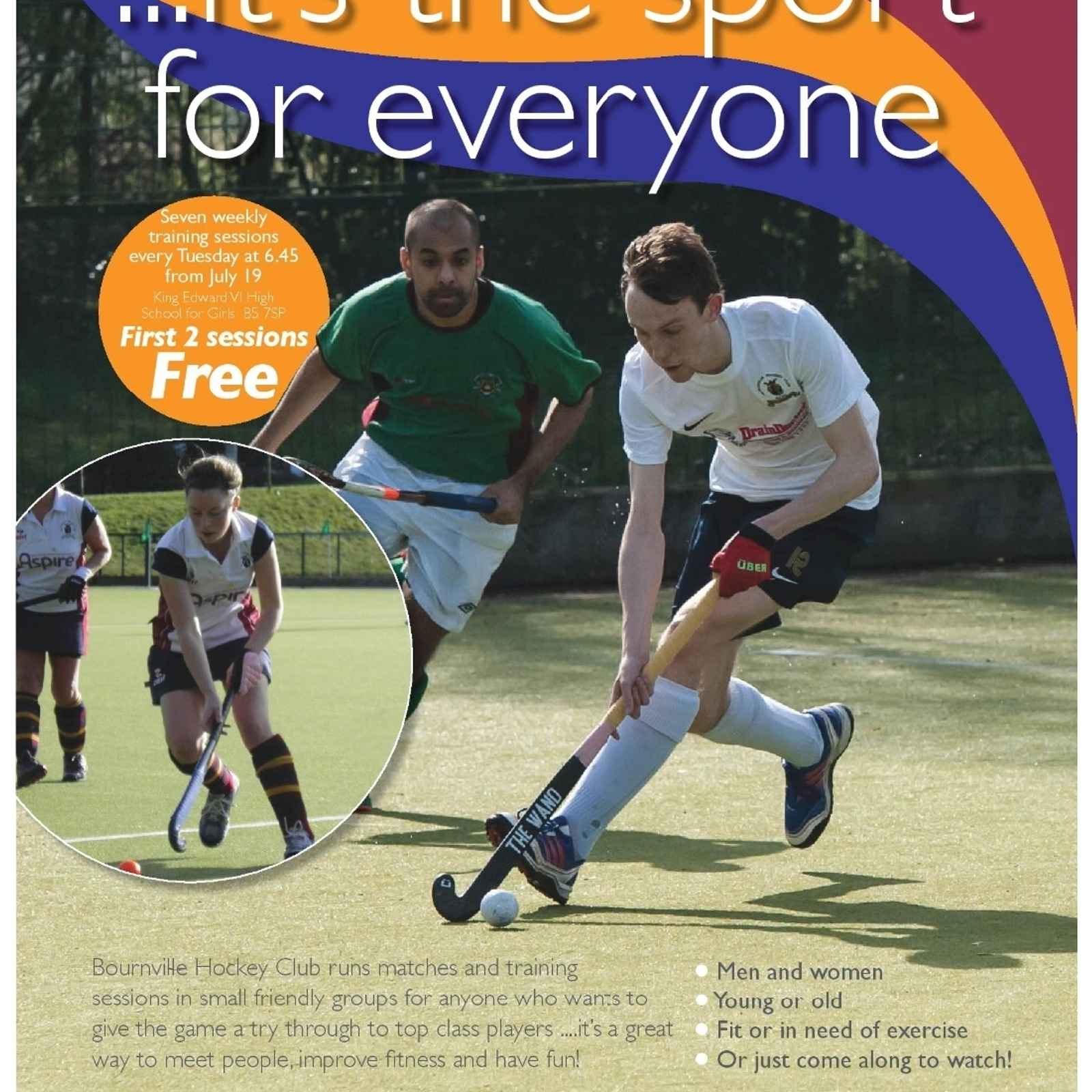 Back to Hockey Starts Tuesday 19th July