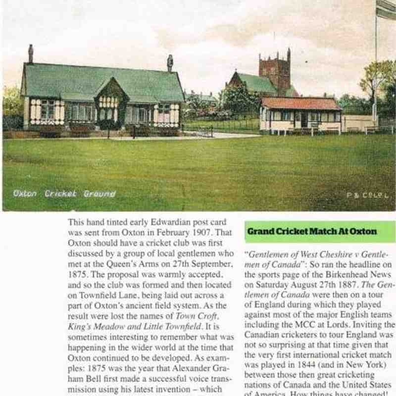 Oxton Society Article