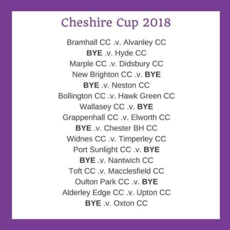 Cheshire Cup Draw 2018