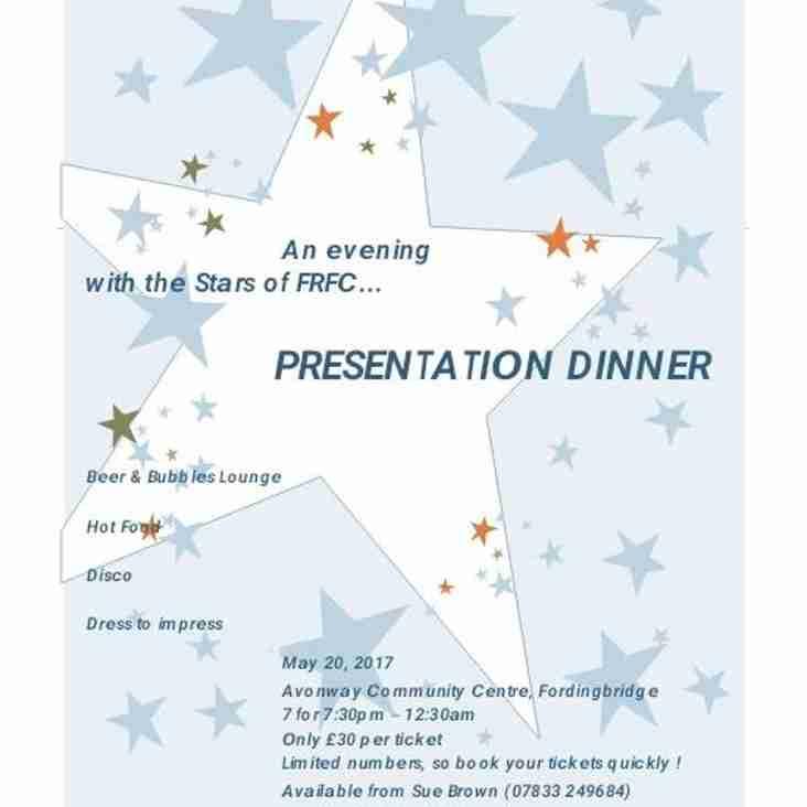 End of Season Presentation Dinner 2017