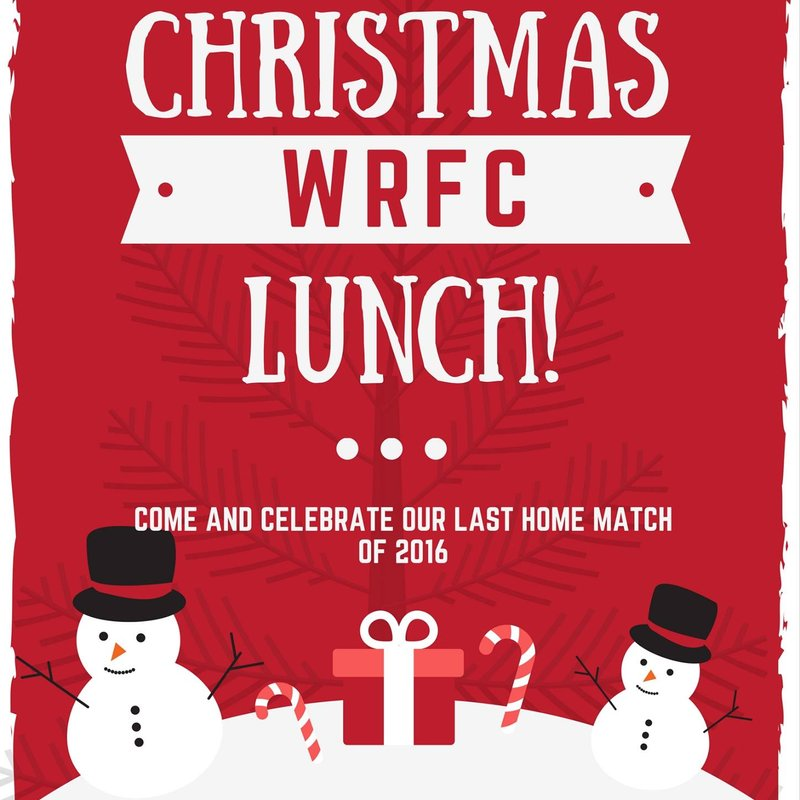 PRE MATCH CHRISTMAS LUNCH - Saturday  17th December