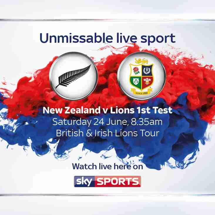 JOIN US FOR BREAKFAST WHILST WATCHING THE LIONS 1ST TEST.