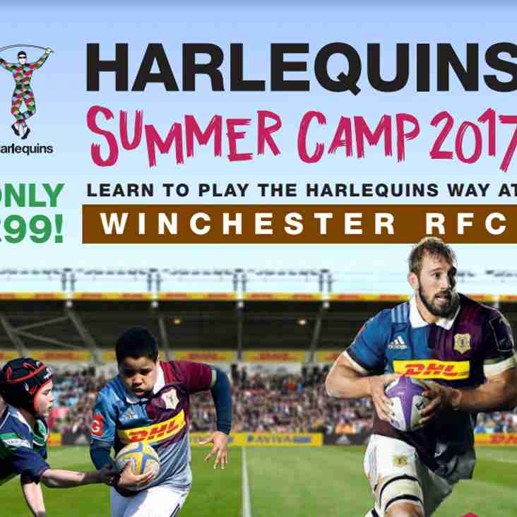 AVAILABLE TO BOOK - NOW !!! Harlequins Summer Camp 2017