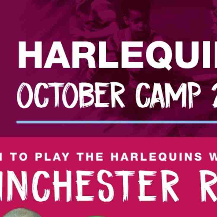 Quins October Half term Rugby Camps - Boys & Girls aged 6 -14