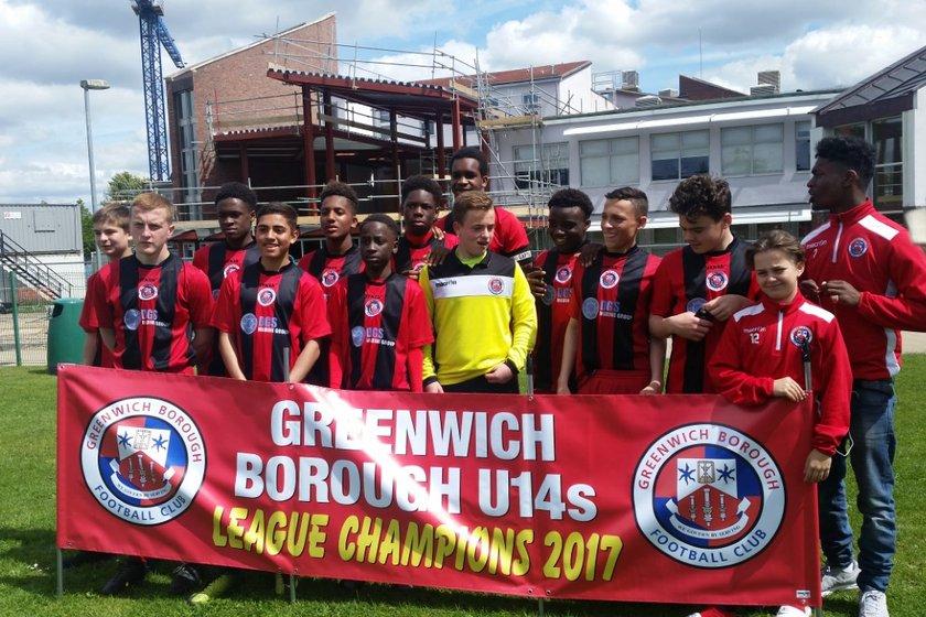 Greenwich Borough U14's become Kent League Champions