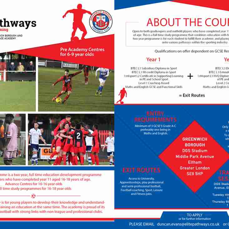 ACADEMY: New Academy Programme Introduced