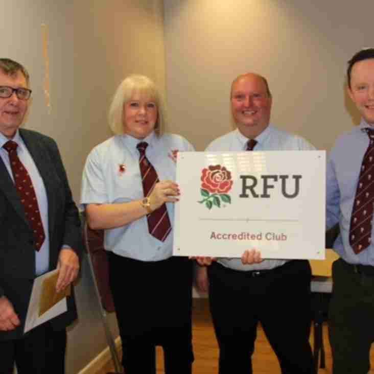 RFU Accreditation Award