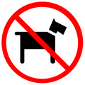 A Reminder That: No Dogs Are Allowed On The Playing Fields