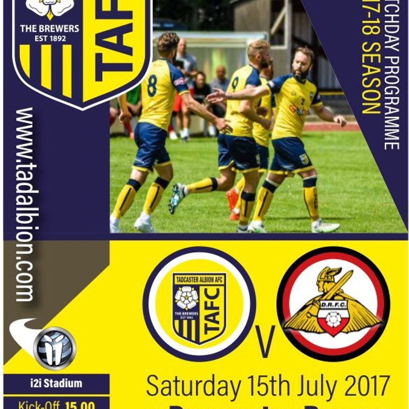 PROGRAMME: Tadcaster Albion v Doncaster Rovers