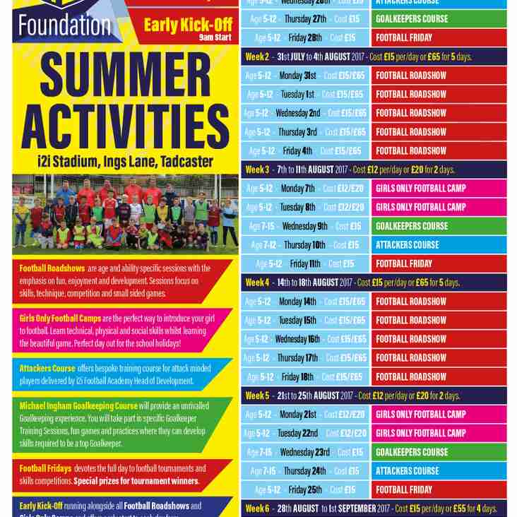 Summer Football Camps At TAFC