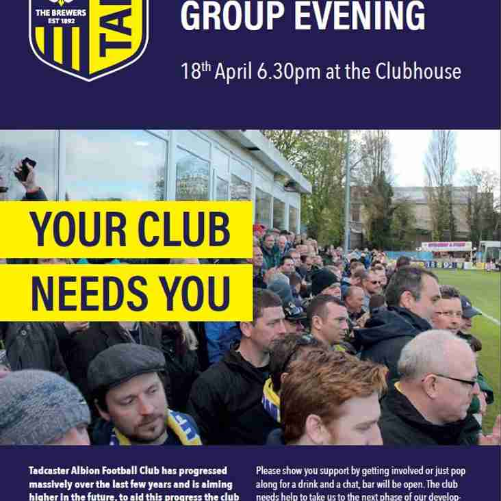 Supporters Club & Volunteer Group Evening