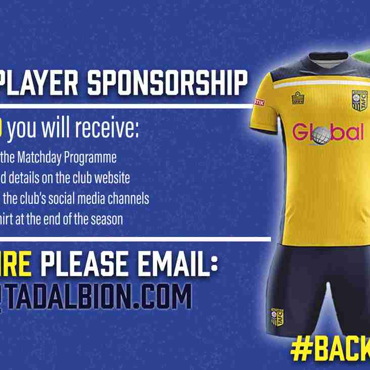 Player/Staff Sponsorship Opportunities