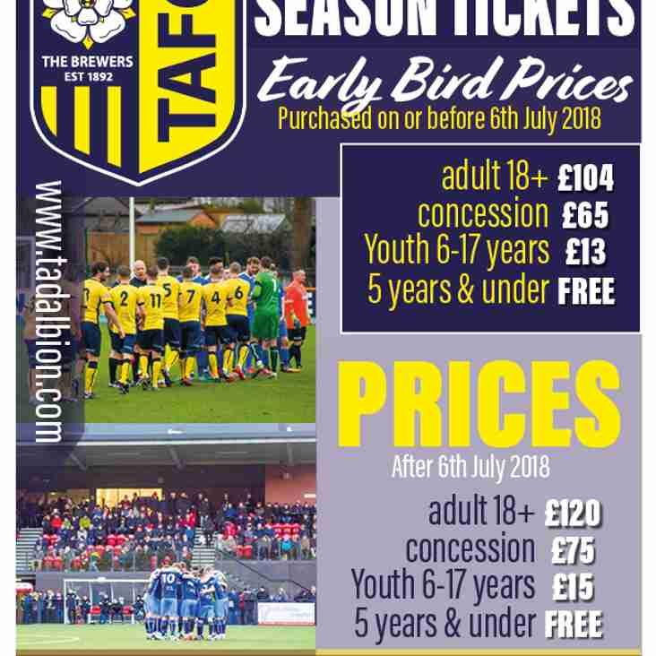 Season Ticket Details