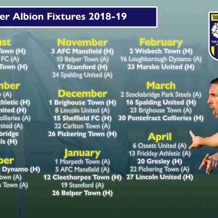 Fixture Release Day | Taddy To Begin At Home!