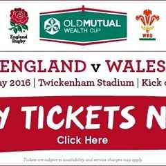 England v Wales - Tickets from £48