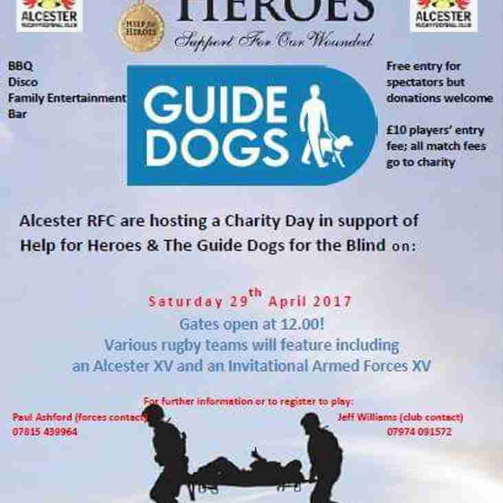 Help for Heroes and Guide Dogs for The Blind Charity Weekend