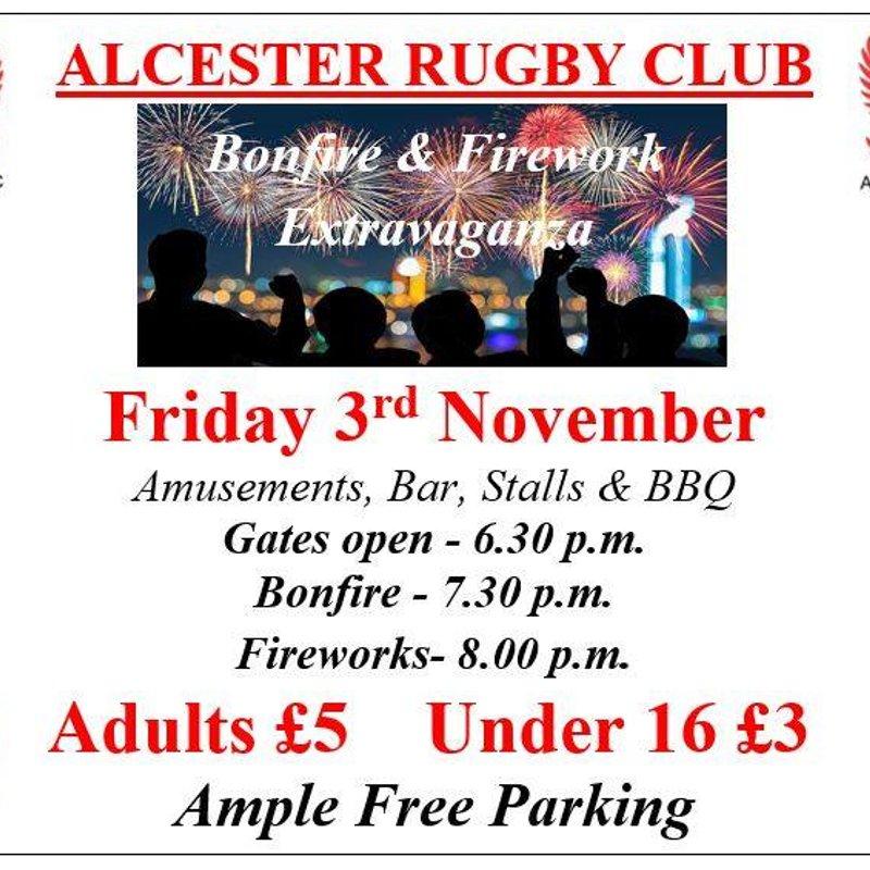 ARFC Bonfire & Fireworks Display