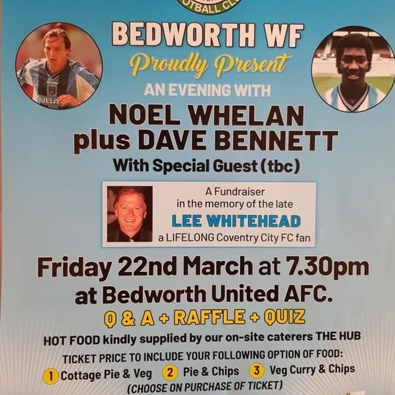 Support This Fundraiser Please...Bedworth Welcome Former Sky Blues Stars